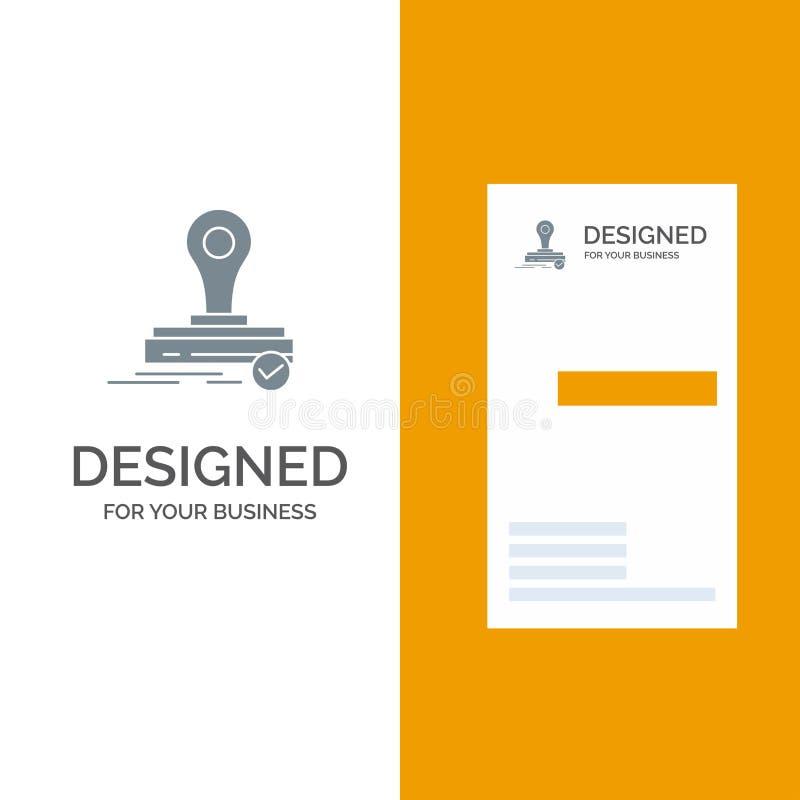 Σφραγίδα, κλώνος, πιέστε, λογότυπο γκρι λογότυπο Σχεδίαση και πρότυπο επαγγελματικής κάρτας διανυσματική απεικόνιση