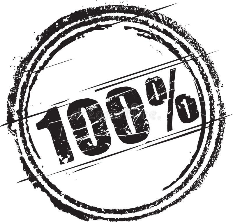 Σφραγίδα με το κείμενο εκατό τοις εκατό ελεύθερη απεικόνιση δικαιώματος