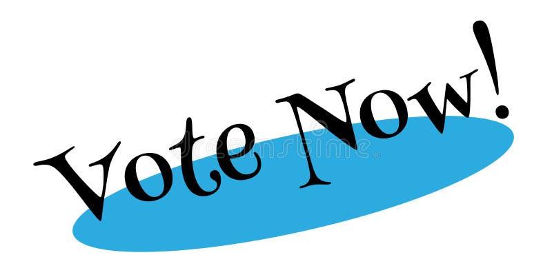 Σφραγίδα ψηφοφορίας τώρα ελεύθερη απεικόνιση δικαιώματος