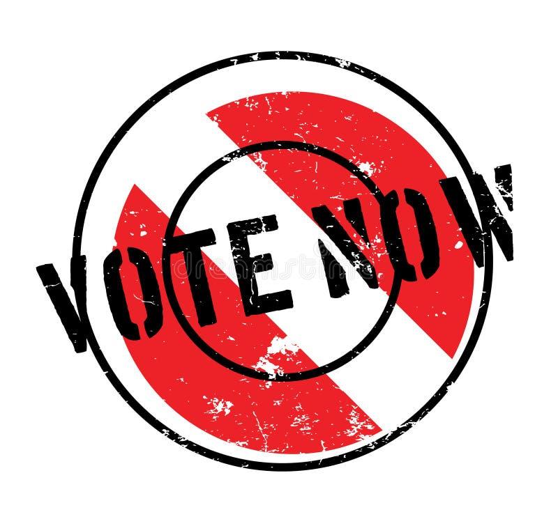 Σφραγίδα ψηφοφορίας τώρα απεικόνιση αποθεμάτων