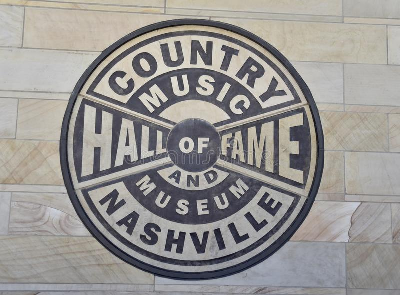 Σφραγίδα hall of fame και μουσείων country μουσικής στοκ εικόνες