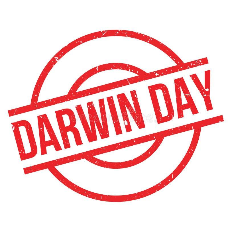 Σφραγίδα ημέρας Δαρβίνου απεικόνιση αποθεμάτων