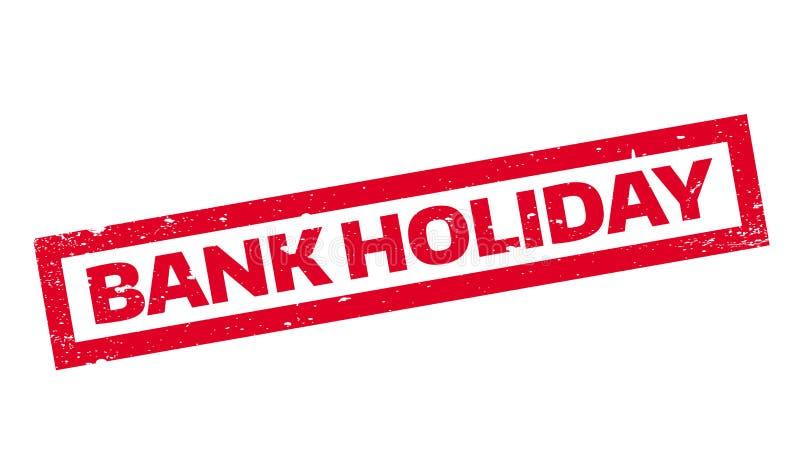 Σφραγίδα διακοπών τράπεζας διανυσματική απεικόνιση