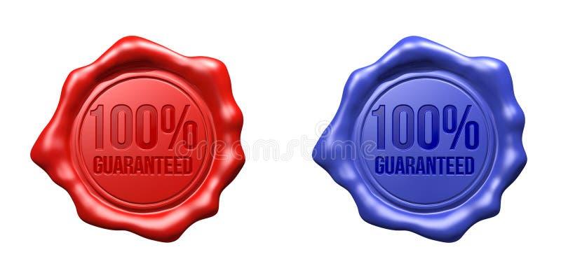 Σφραγίδα κεριών καθορισμένη (κόκκινο,) - 100% που εγγυάται μπλε ελεύθερη απεικόνιση δικαιώματος