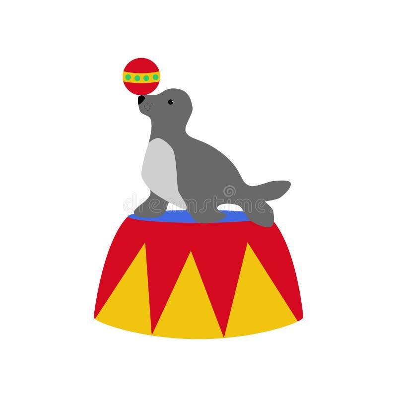 Σφραγίδα στο τσίρκο ελεύθερη απεικόνιση δικαιώματος