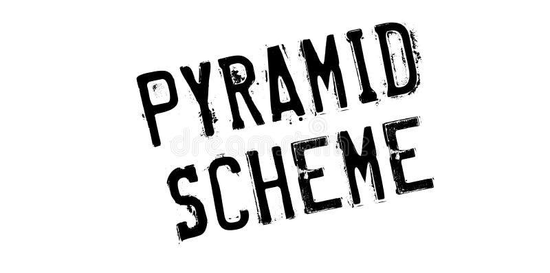 Σφραγίδα σχεδίου πυραμίδων διανυσματική απεικόνιση