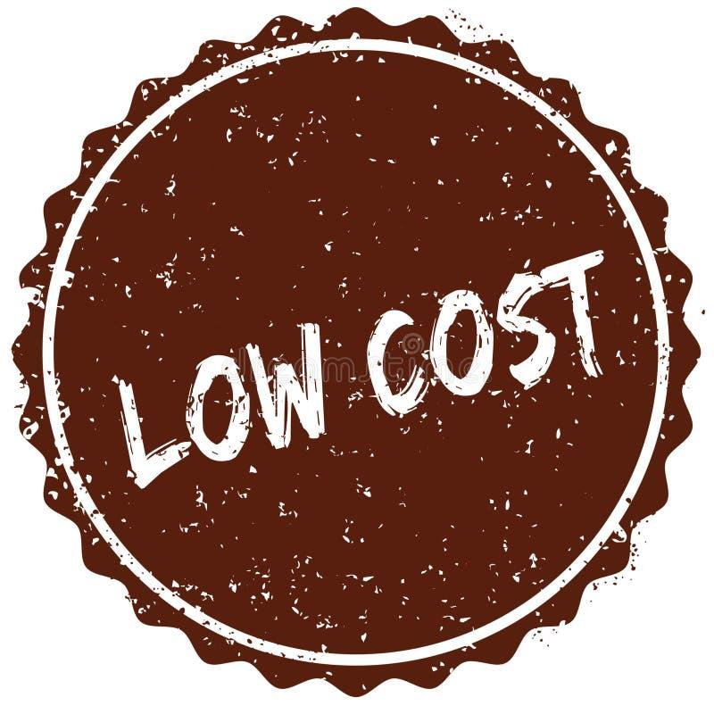 Σφραγίδα Grunge με το ΧΑΜΗΛΟΤΕΡΟ κόστος κειμένων που γράφεται μέσα στο γραμματόσημο ελεύθερη απεικόνιση δικαιώματος