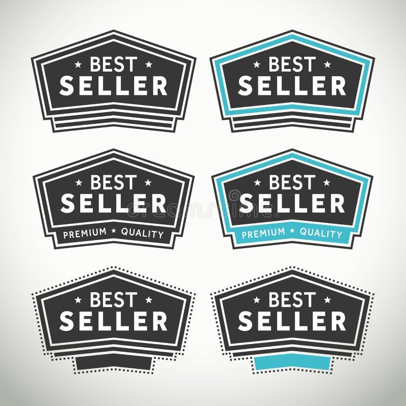 Σφραγίδες και διακριτικά καλύτερων πωλητών απεικόνιση αποθεμάτων