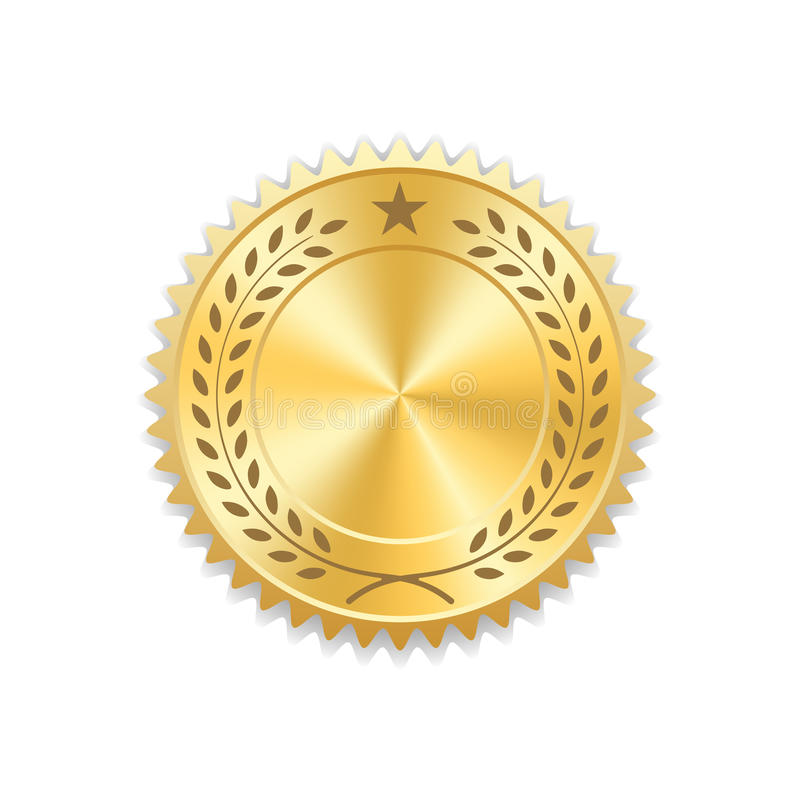 Σφραγίδων κενό μετάλλιο εικονιδίων βραβείων χρυσό ελεύθερη απεικόνιση δικαιώματος