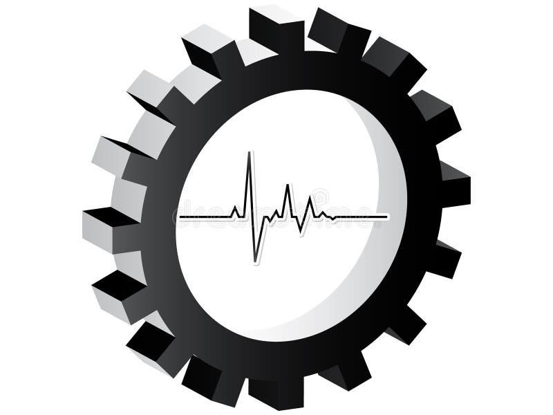 σφυγμός εικονιδίων καρδ& απεικόνιση αποθεμάτων
