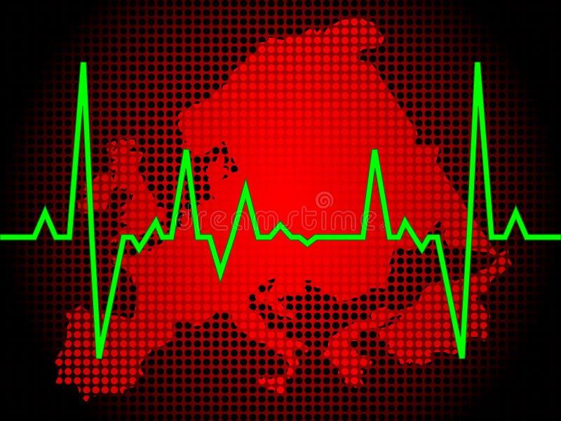 σφυγμός καρδιών της Ευρώπ&et ελεύθερη απεικόνιση δικαιώματος