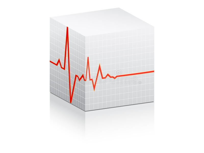 σφυγμός καρδιών διανυσματική απεικόνιση