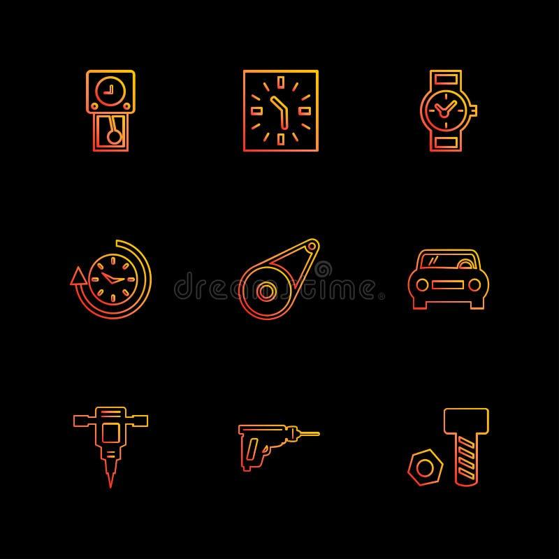 σφυρί γρύλων, καρύδι, μπουλόνι, ρολόι, χρόνος, ρολόι, alaram, ημέρα, απεικόνιση αποθεμάτων