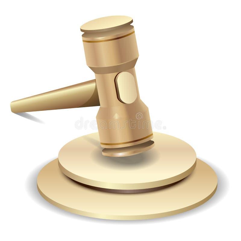 Σφυρί δημοπρασίας ελεύθερη απεικόνιση δικαιώματος