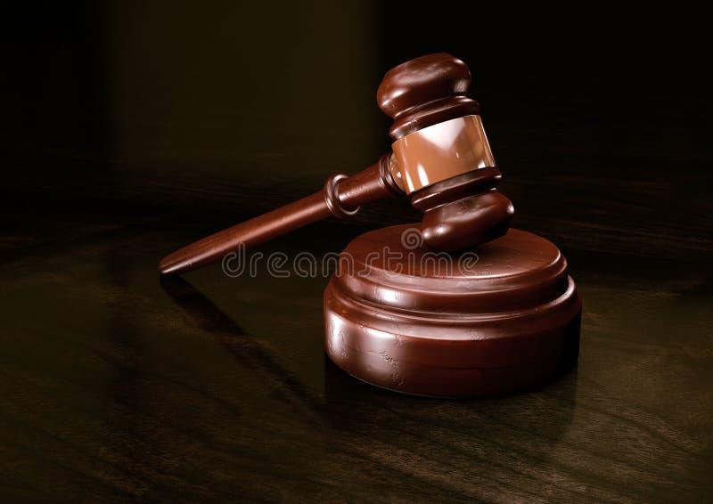 Σφυρί του νόμου στοκ εικόνα με δικαίωμα ελεύθερης χρήσης