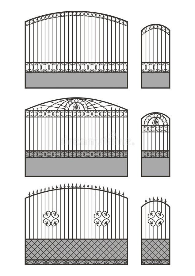 Σφυρηλατημένες πύλη, wicket και φραγή απεικόνιση αποθεμάτων