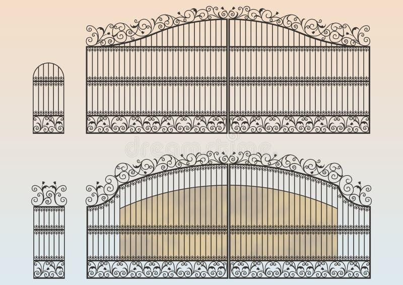 Σφυρηλατημένη πύλη και wicket ελεύθερη απεικόνιση δικαιώματος