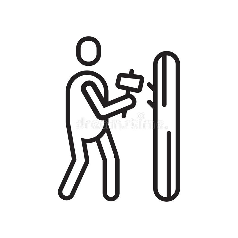 Σφυρηλατώντας διανυσματικά σημάδι και σύμβολο εικονιδίων που απομονώνονται στο άσπρο backgrou διανυσματική απεικόνιση