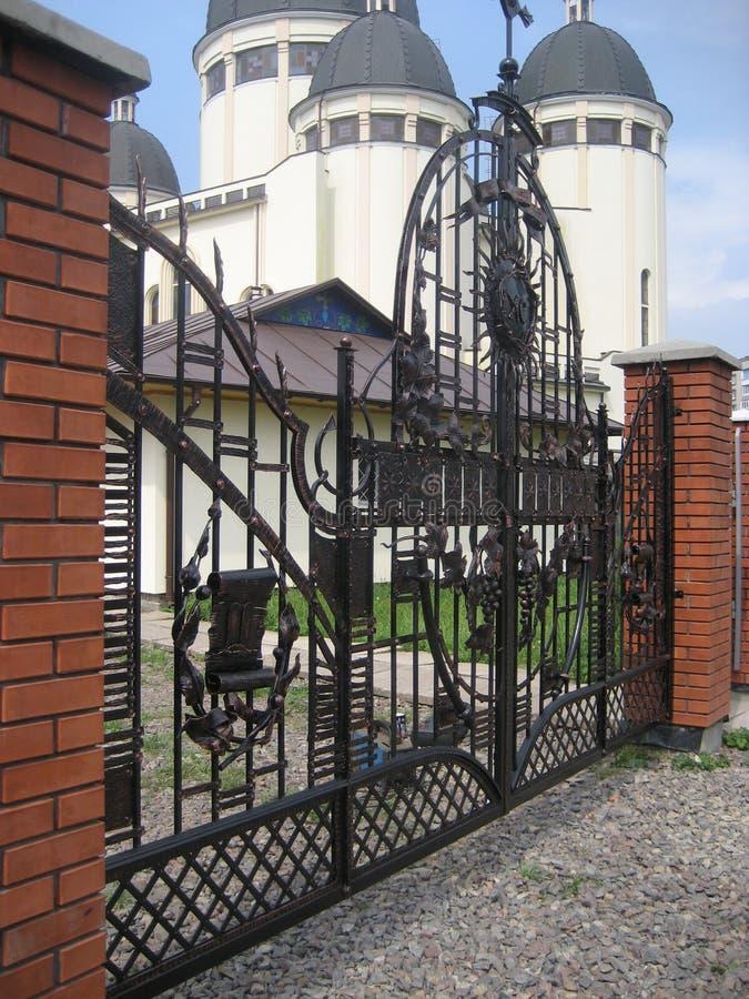 σφυρηλατημένη πύλη στοκ φωτογραφία με δικαίωμα ελεύθερης χρήσης