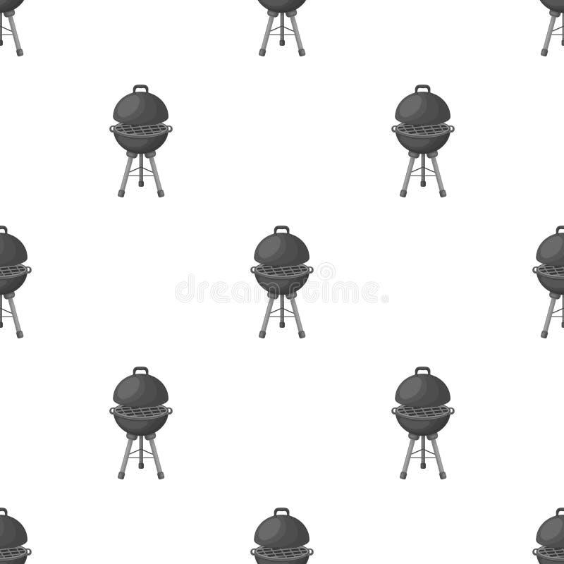 Σχάρα για τη σχάρα BBQ ενιαίο εικονίδιο στο μονοχρωματικό Ιστό απεικόνισης αποθεμάτων συμβόλων ύφους διανυσματικό ελεύθερη απεικόνιση δικαιώματος