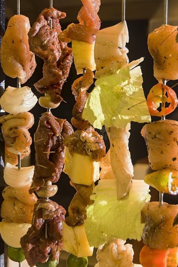 Σχάρα θαλασσινών και κρέατος στοκ φωτογραφία με δικαίωμα ελεύθερης χρήσης