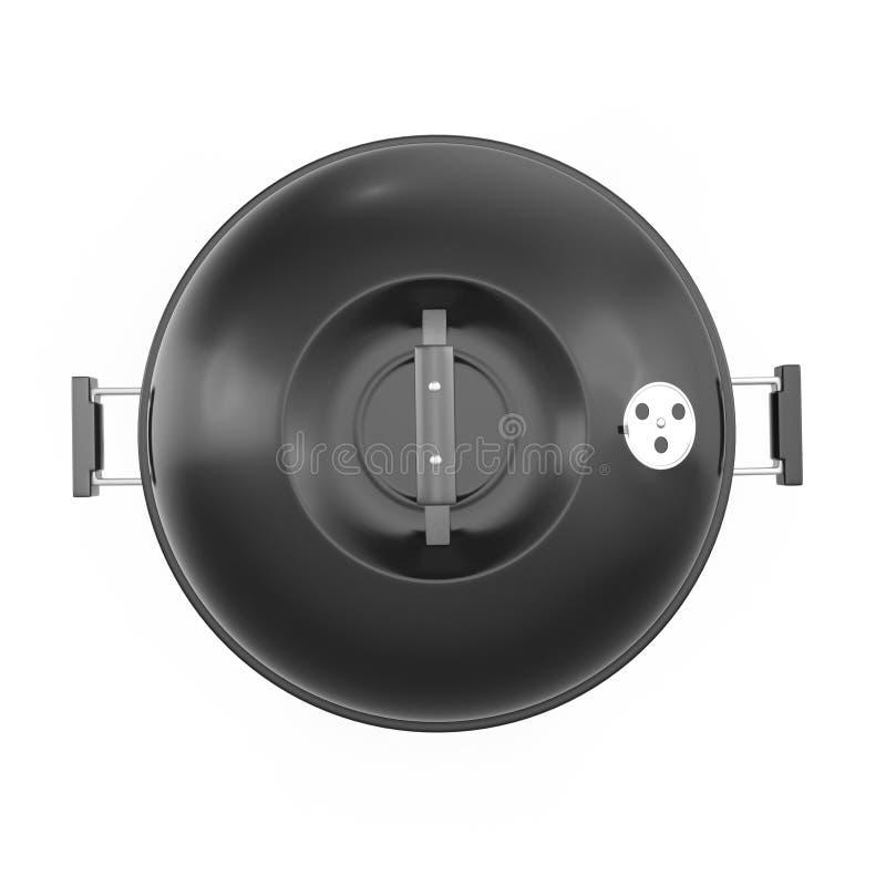Σχάρα σχαρών που απομονώνεται στο λευκό Τοπ όψη τρισδιάστατη απεικόνιση, πορεία ψαλιδίσματος απεικόνιση αποθεμάτων