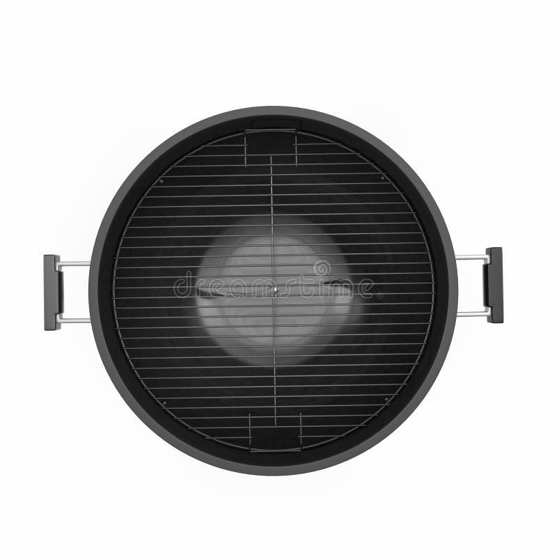 Σχάρα σχαρών που απομονώνεται στο λευκό Τοπ όψη τρισδιάστατη απεικόνιση, πορεία ψαλιδίσματος διανυσματική απεικόνιση