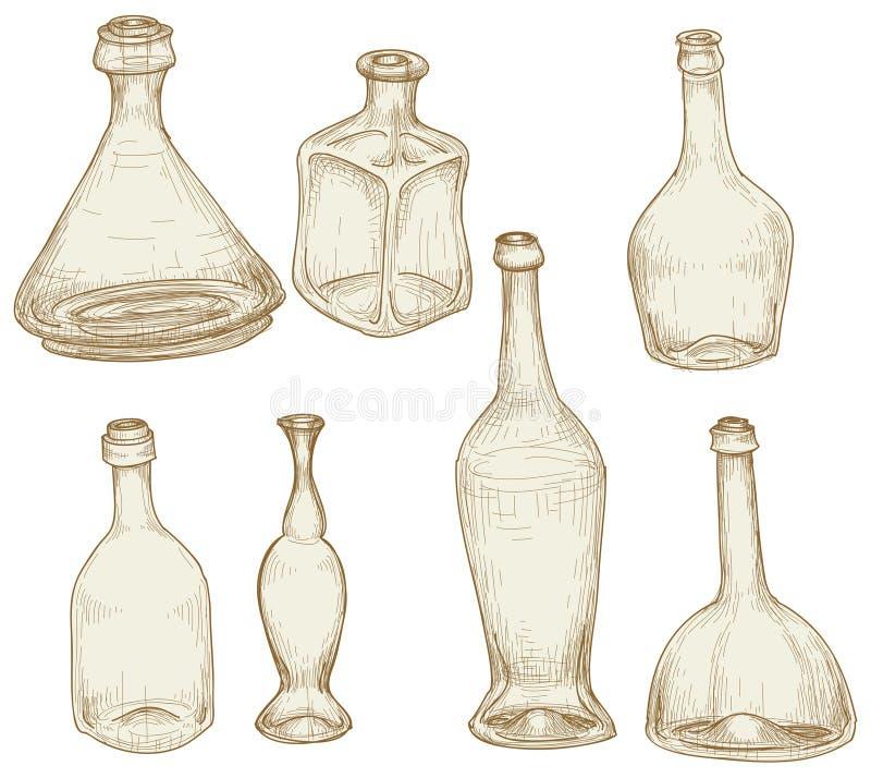 σχέδια μπουκαλιών ελεύθερη απεικόνιση δικαιώματος