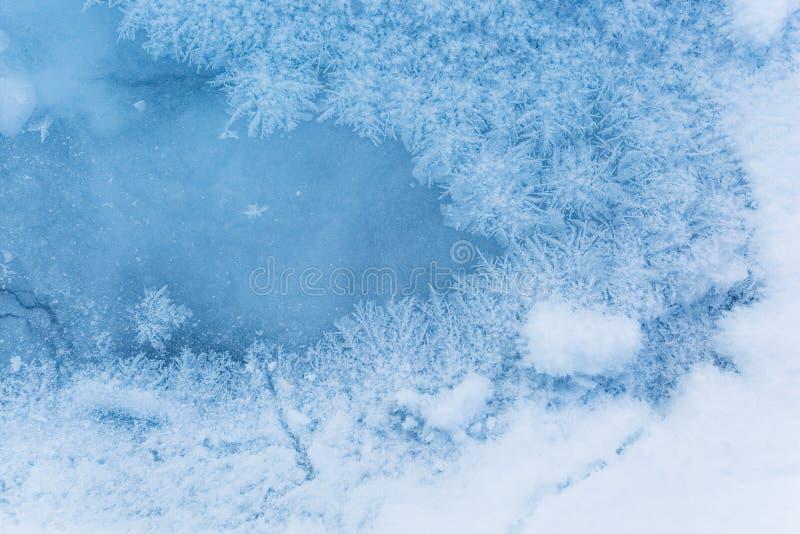 Σχέδια παγετού στον πάγο Ομορφιά στη φύση στοκ φωτογραφία με δικαίωμα ελεύθερης χρήσης
