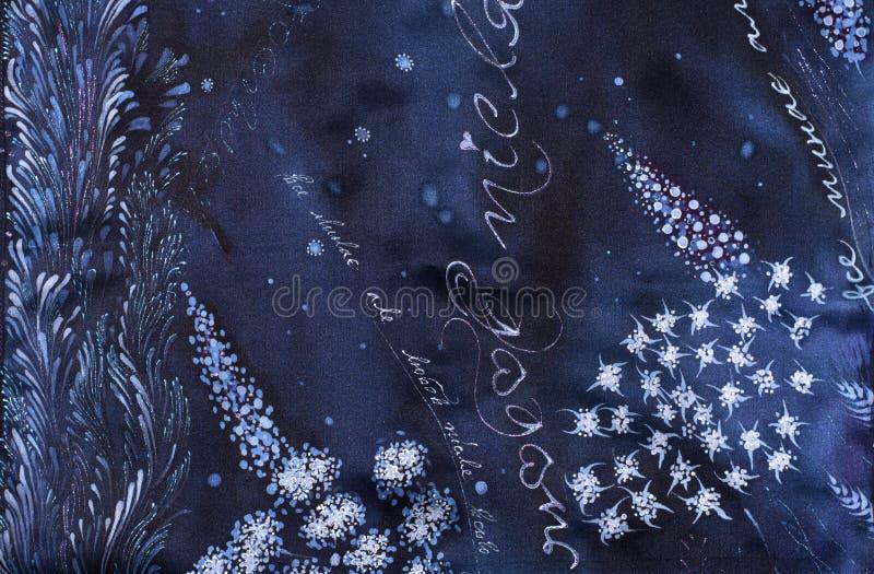 Σχέδια στο μετάξι, τις γραμμές, τα κτυπήματα και τα σημεία σύνθεση διακοσμητική floral διακόσμηση Έντυπα χρήση υλικά, σημάδια, στ ελεύθερη απεικόνιση δικαιώματος