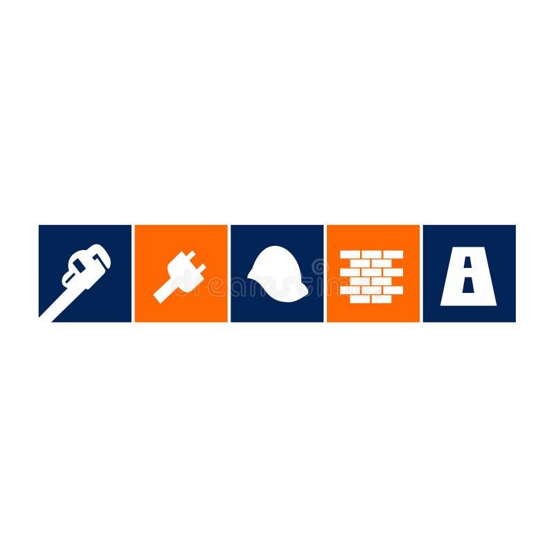 Σχέδια της οικοδόμησης των εργαλείων και της ξυλουργικής απεικόνιση αποθεμάτων