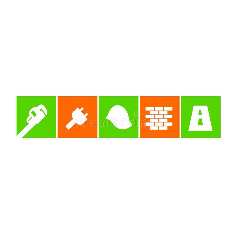 Σχέδια της οικοδόμησης των εργαλείων και της ξυλουργικής διανυσματική απεικόνιση