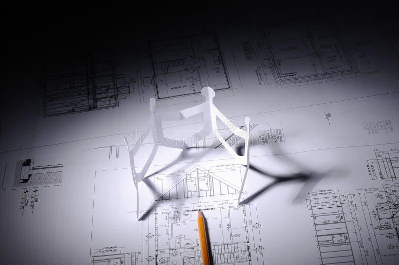 Σχέδια της οικοδόμησης στοκ εικόνες