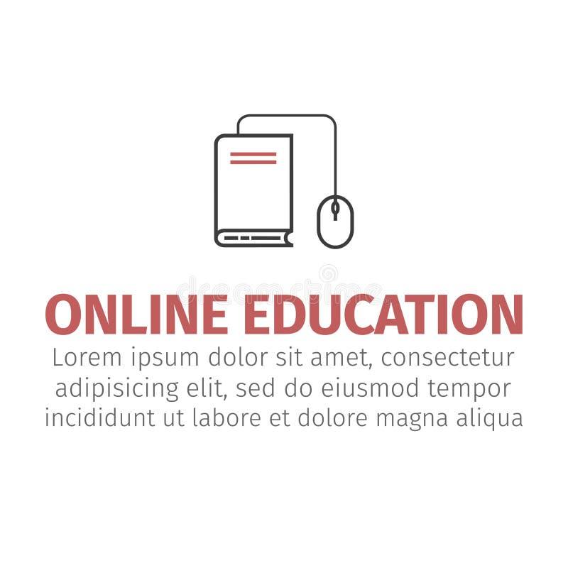 Σχέδιο έννοιας ε-εκμάθησης, διανυσματική απεικόνιση Σε απευθείας σύνδεση εικονίδιο εκπαίδευσης απεικόνιση αποθεμάτων