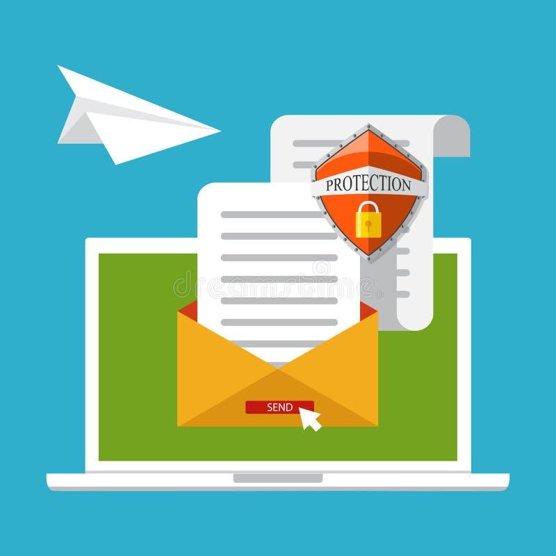 Σχέδιο έννοιας μάρκετινγκ ηλεκτρονικού ταχυδρομείου, διανυσματική απεικόνιση, επίπεδο ύφος ελεύθερη απεικόνιση δικαιώματος
