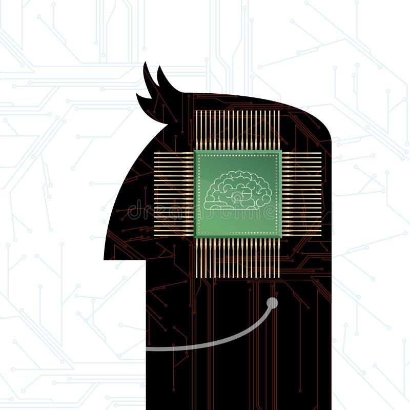 Σχέδιο έννοιας τεχνητής νοημοσύνης απεικόνιση αποθεμάτων
