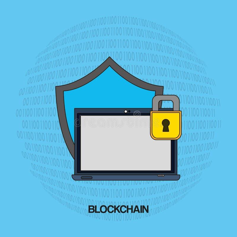 Σχέδιο έννοιας Blockchain απεικόνιση αποθεμάτων