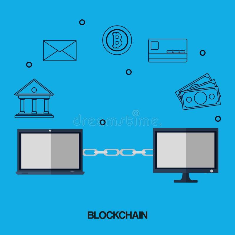 Σχέδιο έννοιας Blockchain διανυσματική απεικόνιση
