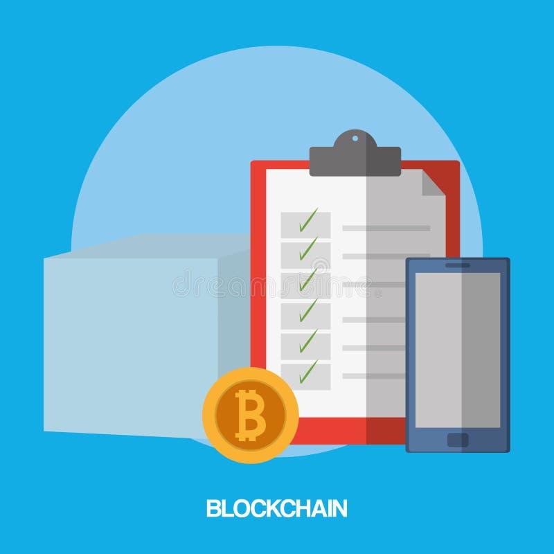 Σχέδιο έννοιας Blockchain ελεύθερη απεικόνιση δικαιώματος