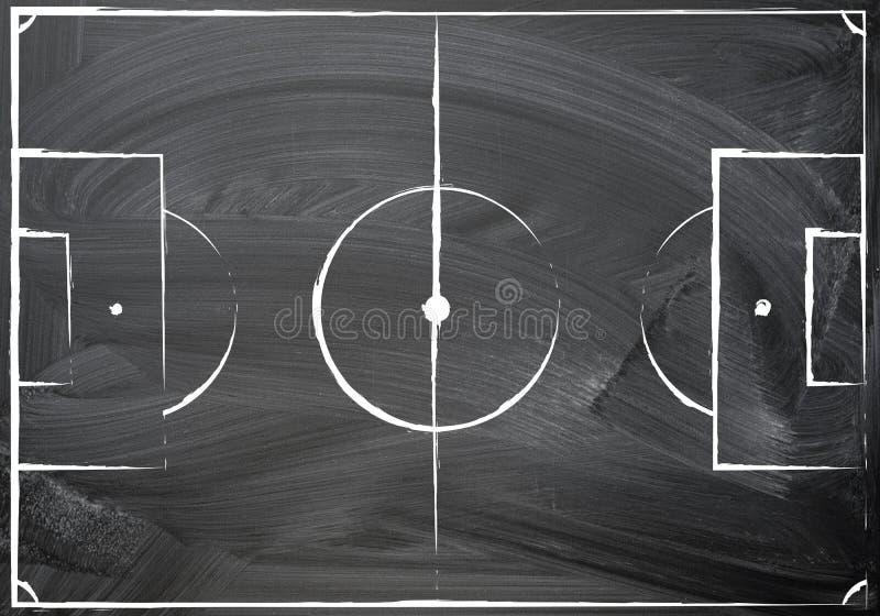 Σχέδιο αγωνιστικών χώρων ποδοσφαίρου ελεύθερη απεικόνιση δικαιώματος