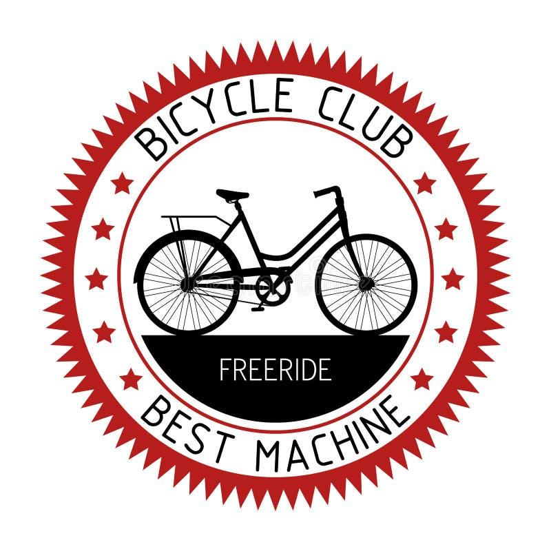 Σχέδιο αθλητικών λεσχών εμβλημάτων ποδηλάτων ελεύθερη απεικόνιση δικαιώματος