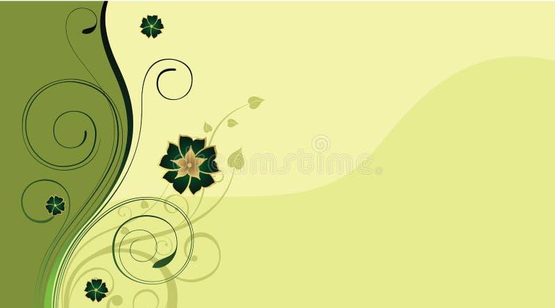 σχέδιο ανασκόπησης floral διανυσματική απεικόνιση