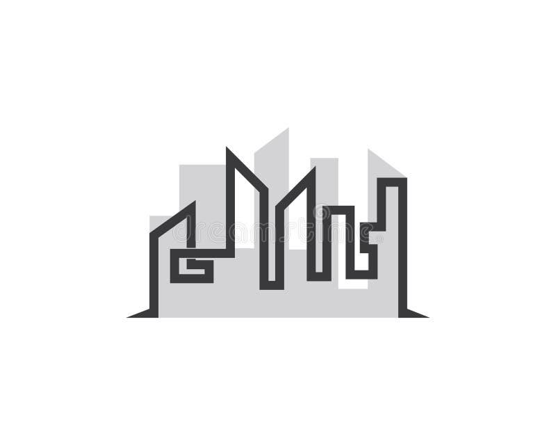 Σχέδιο απεικόνισης συμβόλων σπιτιών διανυσματική απεικόνιση