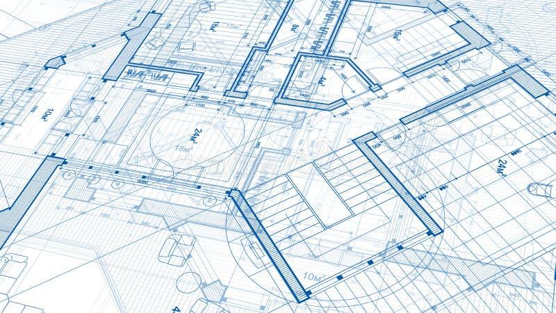 Σχέδιο αρχιτεκτονικής: σχέδιο σχεδιαγραμμάτων - απεικόνιση ενός σχεδίου στοκ φωτογραφία