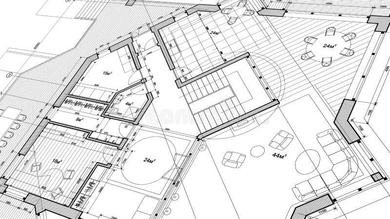 Σχέδιο αρχιτεκτονικής: σχέδιο σχεδιαγραμμάτων - διανυσματική απεικόνιση απεικόνιση αποθεμάτων