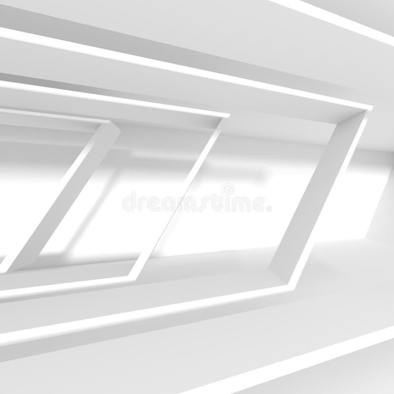 σχέδιο αρχιτεκτονικής φ&omi Άσπρο υπόβαθρο με μινιμαλιστικό ελεύθερη απεικόνιση δικαιώματος