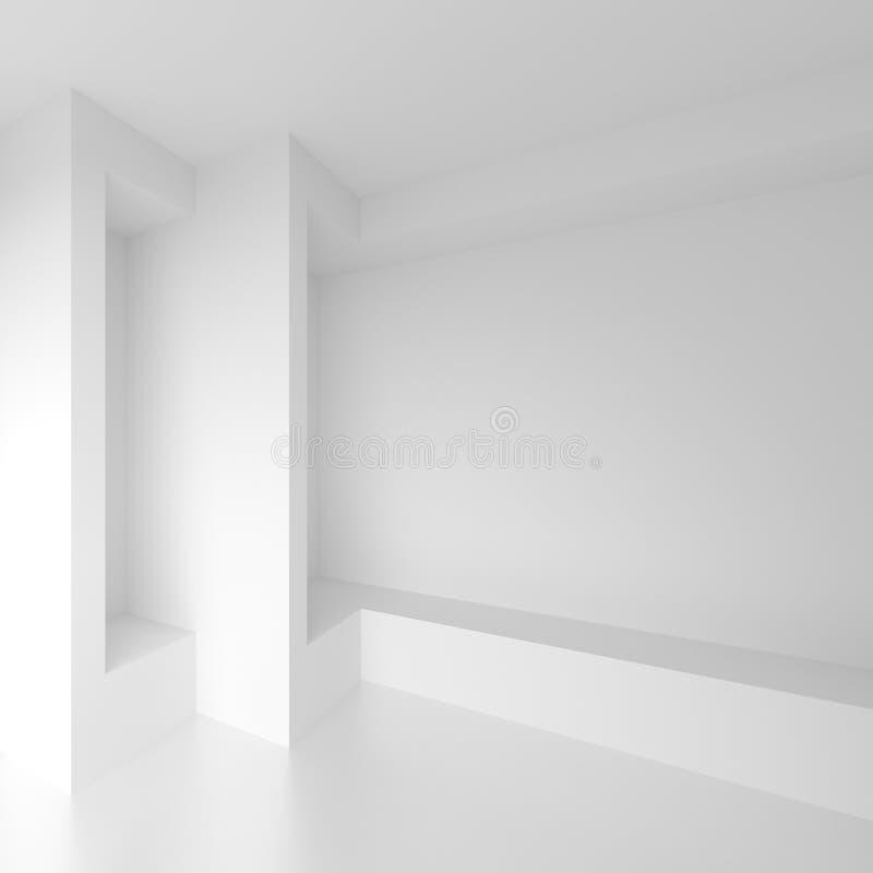σχέδιο αρχιτεκτονικής φ&omi Άσπρο υπόβαθρο με μινιμαλιστικό διανυσματική απεικόνιση