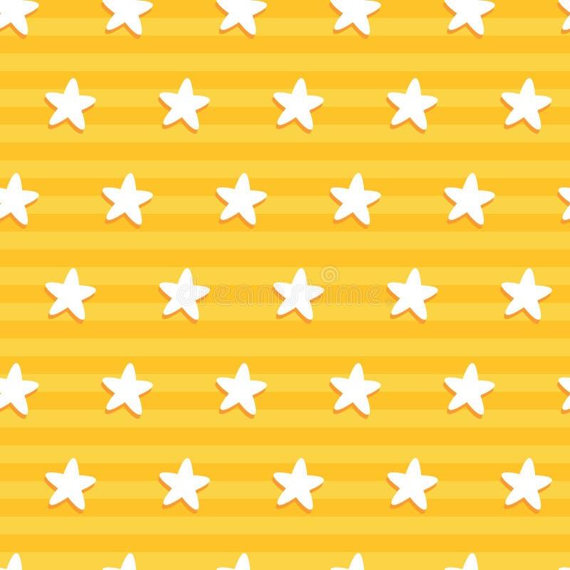 Σχέδιο αστεριών στο κίτρινο λωρίδα στοκ φωτογραφίες