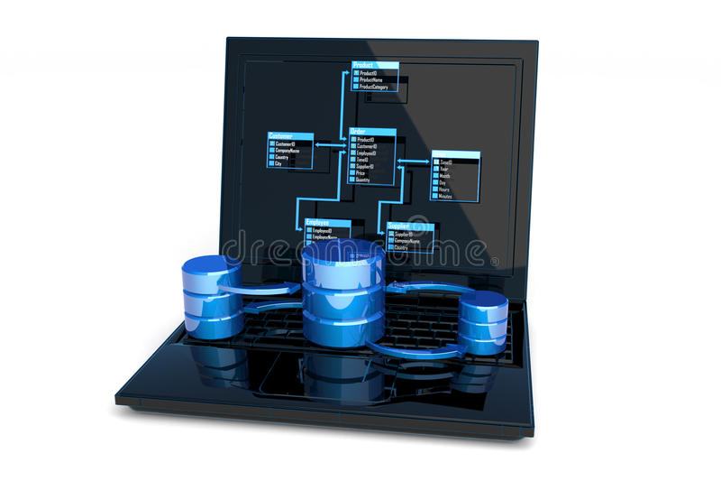 σχέδιο βάσεων δεδομένων απεικόνιση αποθεμάτων