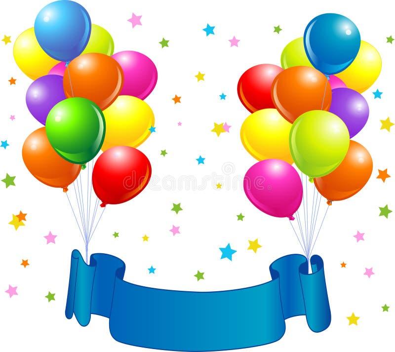 σχέδιο γενεθλίων μπαλον& διανυσματική απεικόνιση